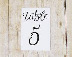 what size are table number cards 4x6 table number cards printed modern script wedding table numbers