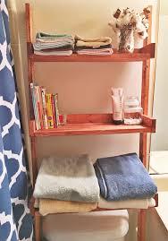 Diy Leaning Ladder Bathroom Shelf by Ana White Leaning Bathroom Shelf Diy Projects