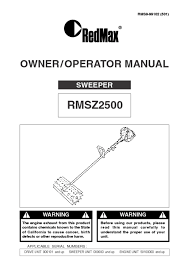lawn sweeper users guides from