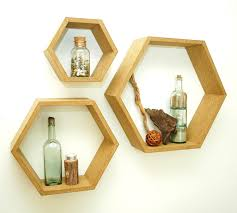 Floating Box Shelves by Hexagon Floating Shadow Box Shelves 210 00 Via Etsy For The
