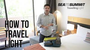 How To Travel Light Travelling Light With Sea To Summit Youtube