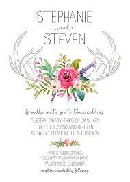wedding invitations free print antlers free wedding invitation suite