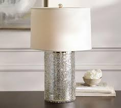 mercury glass mosaic tiles table lamp base