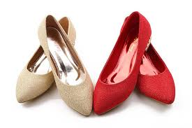 Prom Shoes Flats Wedding Shoes Flats For Bride 2014 New Design Gold Red Low Heel