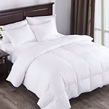 Duck And Down Duvets Amazon Com Puredown All Seasons White Down Comforter Cotton 600