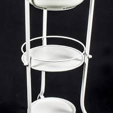 Le Bain Bathroom Accessories by French Vintage Style White 3 Tier Le Bain Wash Bowl And Stand