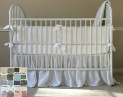 All White Crib Bedding White Baby Bedding Etsy