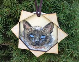 siamese cat ornament etsy