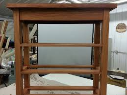 Entrance Way Tables by Hand Crafted Entrance Way Bench With Shoe Storage Shelves By