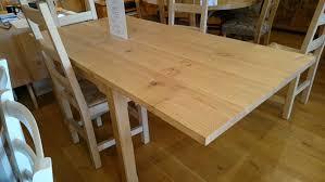 extending solid oak farmhouse table