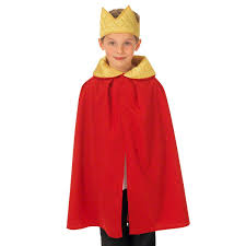 king of queens halloween costume red king or queen cloak costume for kids one size 3 9 yrs charlie
