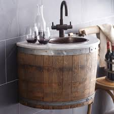 bordeaux reclaimed wine barrel bar vanity suite native trails
