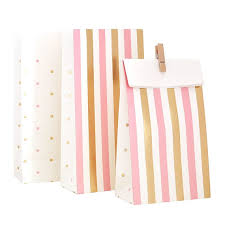 pink gift bags pink gold party bags pink bags gift bag treat bags for