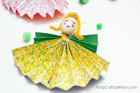 how to make paper angel christmas ornaments artsy craftsy mom