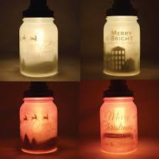 Jar Pendant Light Personalized Christmas Holiday Frosted Mason Jar Pendant Light