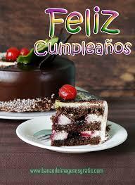 imagenes de pasteles que digan feliz cumpleaños postal gratis de feliz cumpleaños con pastel de chocolate tarjetas