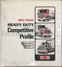1985 gmc heavy duty repair shop manual astro general brigadier