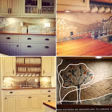 kitchen backsplash diy simple decoration diy kitchen backsplash enchanting 7 budget