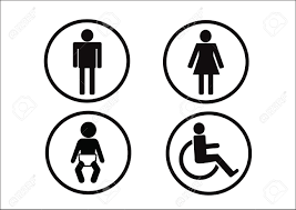 Man Woman Bathroom Symbol Restroom Symbol Icon Of Man Woman Disability And Child Royalty