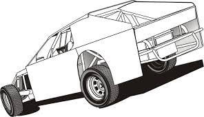 modified race car coloring pages free printable modified