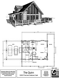 vacation log cabin floor plans