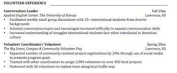 Volunteer Job Description For Resume by Volunteering U2014the Extra Boost Your Resume Needs Ku Career Center