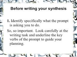 sample ap synthesis essay synthesis essay prompt ap constructed response synthesis last ap synthesis essay workshop in order to write a successful synthesis before writing your synthesis identify specifically
