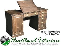 Pine Oak Furniture Solid Pine Oak Or Painted Artist Drafts Man Desk With Integral