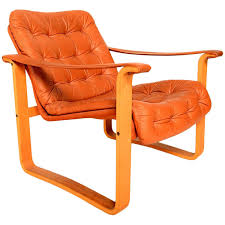 Finland Leather Armchair Danish Mid Century Modern Oy Bj