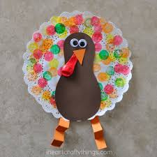 doily turkey craft for turkey craft thanksgiving and markers
