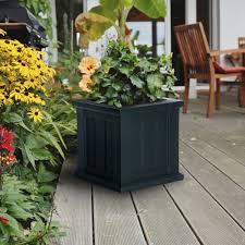 Black Planter Boxes by Mayne Cape Cod Patio Planter Box 14x14 Black 4836 B On Sale