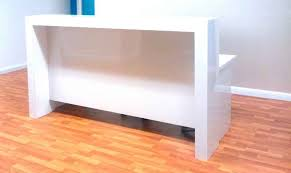 Timber Reception Desk Reception Counter White Gloss Nice Design A Modern Office