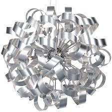 ribbon light dar rawley large 12 light ribbon pendant brushed aluminium raw1250