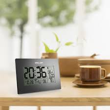 Digital Atomic Desk Clock Baldr Premium Atomic Desk Bedroom Dual Alarm Clock Wall Clock