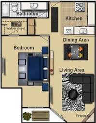 Layout Apartment 3 Distinctly Themed Apartments Under 800 Square Feet 75 Square