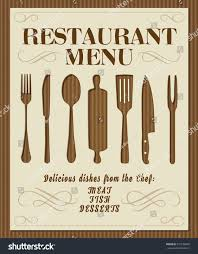 vintage restaurant menu front page kitchen stock vector 331576856
