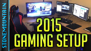 gaming setup 2015 console u0026 custom pc setup youtube