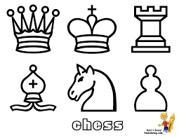 smooth chess coloring pages print 1 chess pieces free