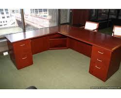 Wood L Shaped Desk Facility Services New L Shaped Cherry Wood Desks
