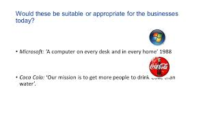 A Computer On Every Desk And In Every Home Starter What Is A Mission Statement Ppt