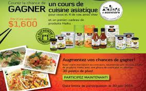 cours cuisine asiatique concours cours de cuisine asiatique et panier cadeau québec