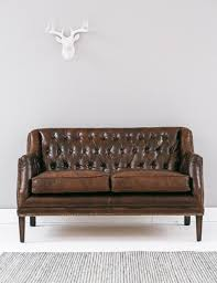 Leather Button Sofa Vintage Leather Button Stud Sofa Grey Helena Source