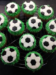 football cupcakes fondant sugar paste football cupcake toppers with piped green