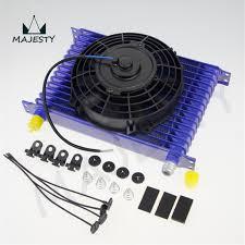oil cooler fan kit online shop universal 15 row engine transmission 10an oil cooler 7