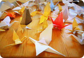 origami crane mobile thirty birds