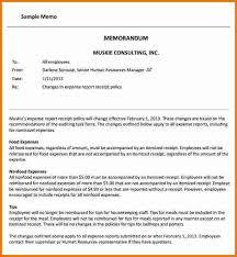 4 business memo template expense report