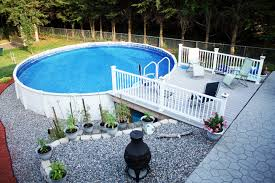 landscaping cool above ground pool landscaping for backyard ideas
