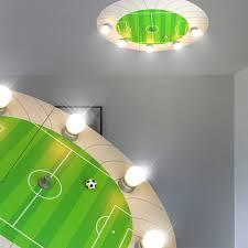 eclairage chambre enfant football luminaire de plafond led enfant vert le chambre d