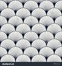 Art Deco Style Seamless Vintage Pattern Overlapping Shells Art Stock Vector