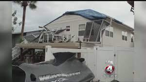 fort myers beach storm damage youtube